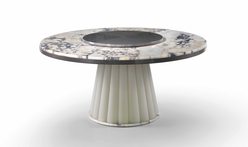 ULYSSE TABLE WITH LAZY SUSAN