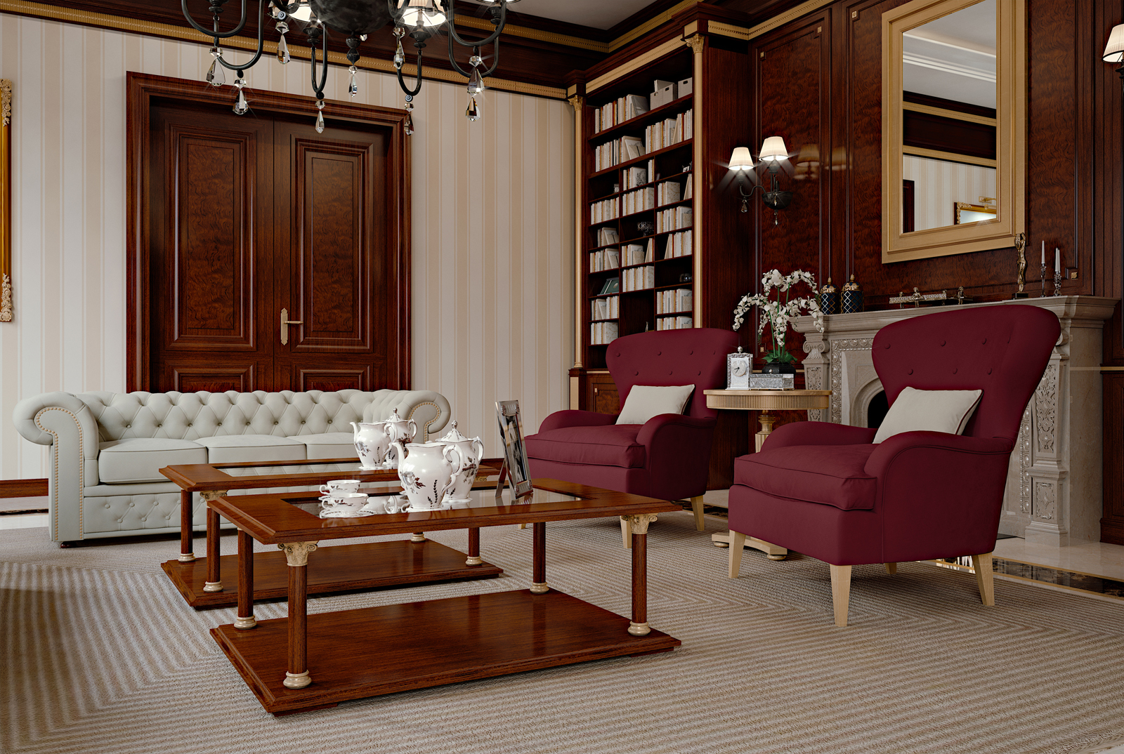 Rome a classic private office elledue arredamenti - Office tourisme italien a paris ...